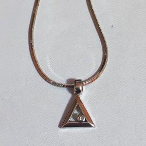 "Jewelry - Adorable Genuine diamond triangle necklace 18"""